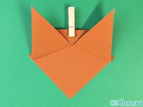 折り紙で猫の折り方手順8