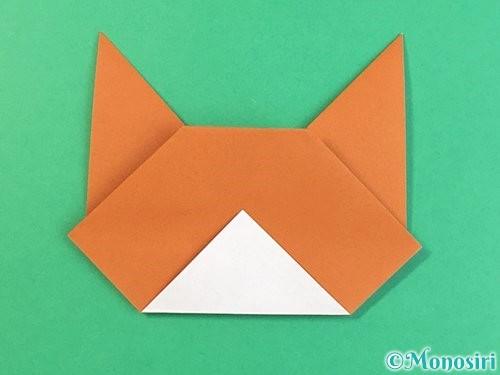 折り紙で猫の折り方手順14