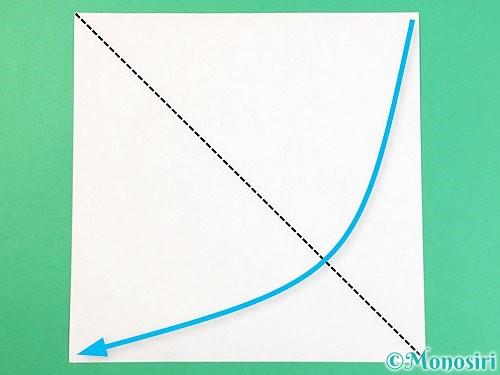 折り紙で猫の折り方手順17