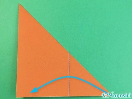 折り紙で猫の折り方手順19