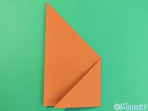 折り紙で猫の折り方手順21
