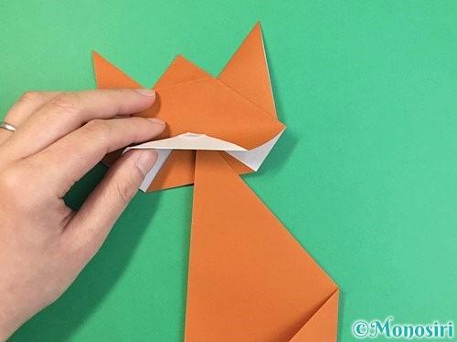 折り紙で猫の折り方手順25