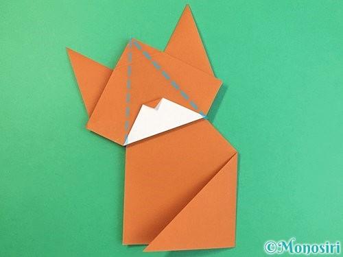 折り紙で猫の折り方手順26