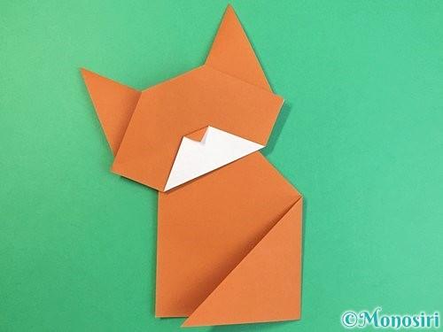 折り紙で猫の折り方手順28