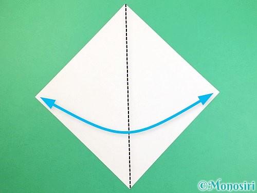 折り紙で立体的な猫の折り方手順1