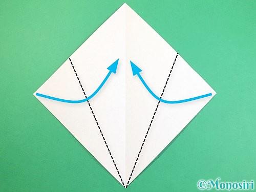折り紙で立体的な猫の折り方手順3