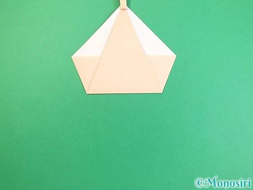 折り紙で立体的な猫の折り方手順6