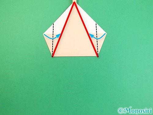折り紙で立体的な猫の折り方手順7