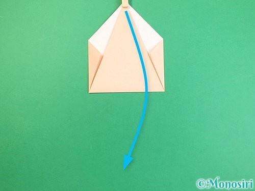 折り紙で立体的な猫の折り方手順9