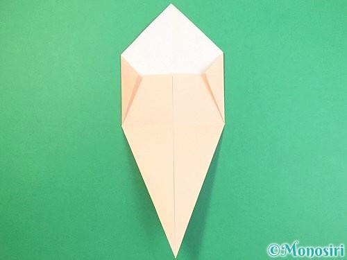 折り紙で立体的な猫の折り方手順10