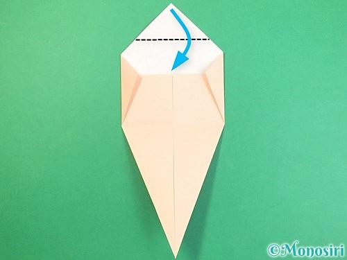折り紙で立体的な猫の折り方手順11