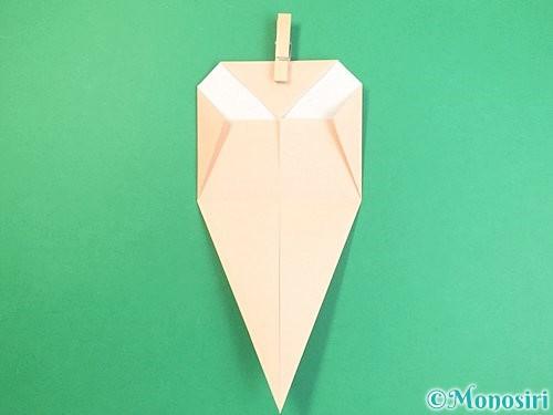 折り紙で立体的な猫の折り方手順12