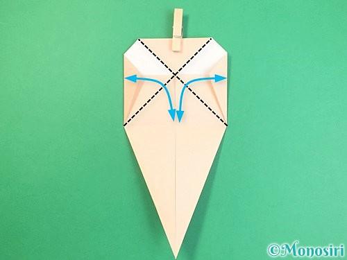 折り紙で立体的な猫の折り方手順13