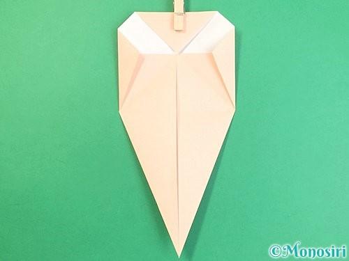 折り紙で立体的な猫の折り方手順14