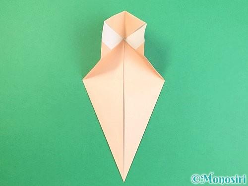 折り紙で立体的な猫の折り方手順16
