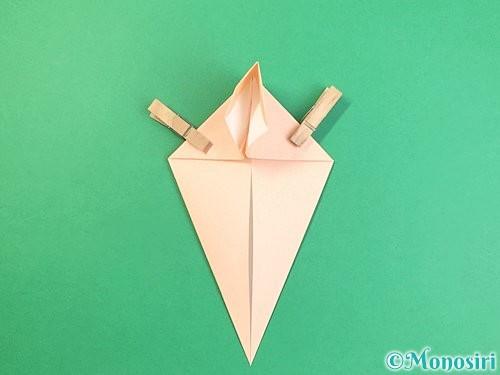 折り紙で立体的な猫の折り方手順17