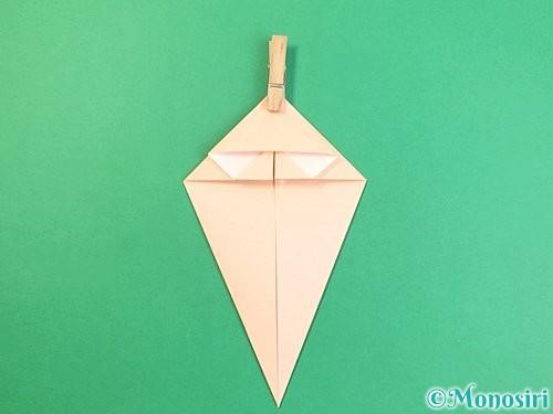 折り紙で立体的な猫の折り方手順18