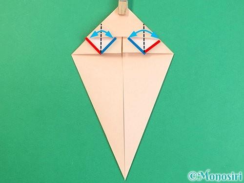 折り紙で立体的な猫の折り方手順19
