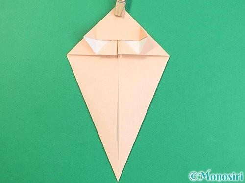 折り紙で立体的な猫の折り方手順20