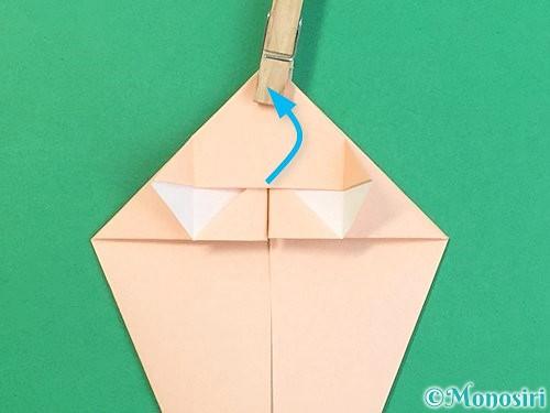 折り紙で立体的な猫の折り方手順21