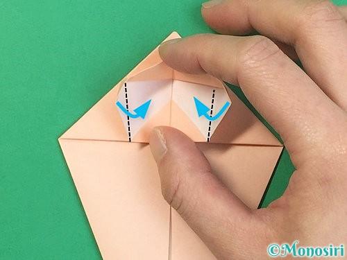 折り紙で立体的な猫の折り方手順22