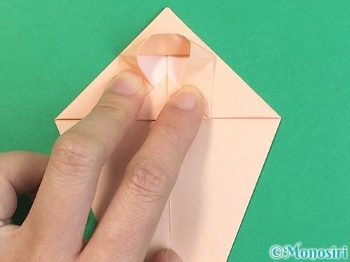 折り紙で立体的な猫の折り方手順23