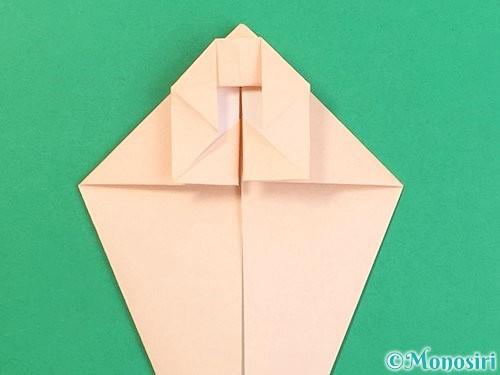 折り紙で立体的な猫の折り方手順24