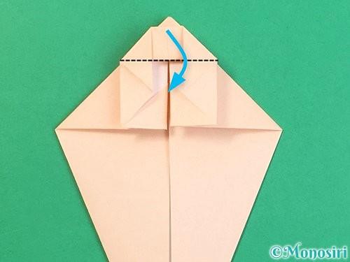折り紙で立体的な猫の折り方手順25