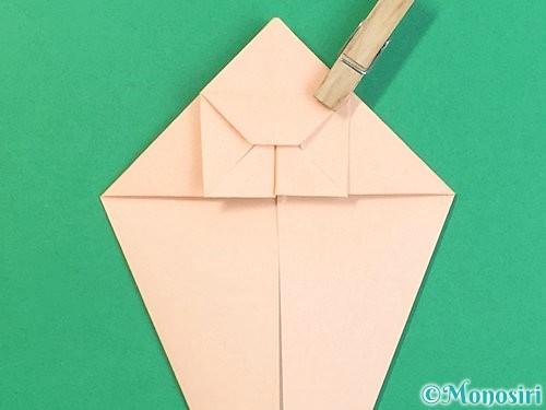 折り紙で立体的な猫の折り方手順26