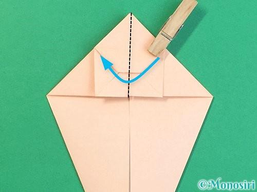 折り紙で立体的な猫の折り方手順27