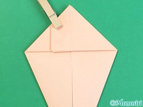 折り紙で立体的な猫の折り方手順28