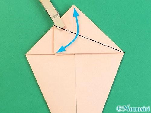 折り紙で立体的な猫の折り方手順29