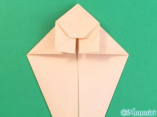 折り紙で立体的な猫の折り方手順32