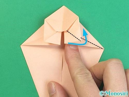 折り紙で立体的な猫の折り方手順33
