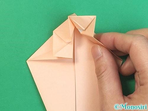 折り紙で立体的な猫の折り方手順34