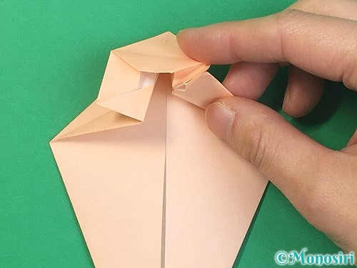 折り紙で立体的な猫の折り方手順36