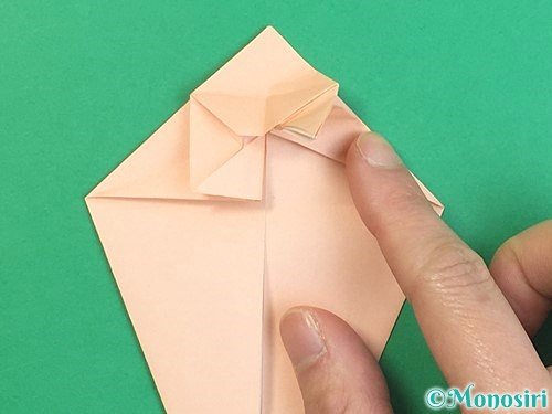 折り紙で立体的な猫の折り方手順37