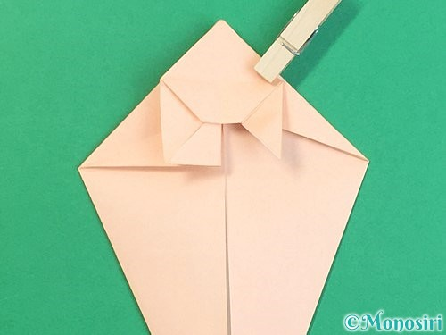 折り紙で立体的な猫の折り方手順38