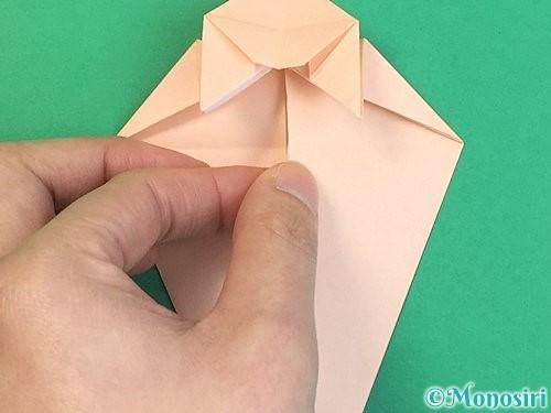 折り紙で立体的な猫の折り方手順41