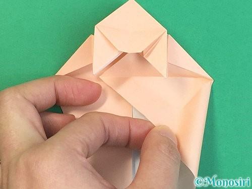 折り紙で立体的な猫の折り方手順42