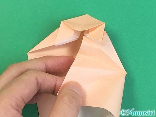 折り紙で立体的な猫の折り方手順43