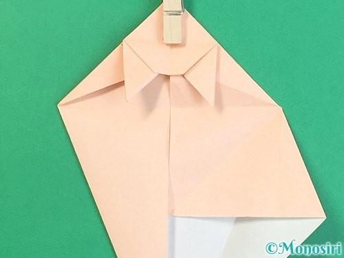 折り紙で立体的な猫の折り方手順44