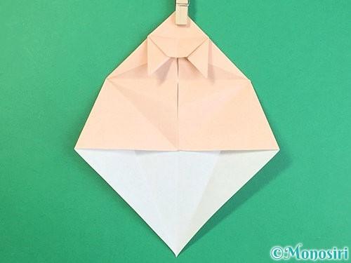 折り紙で立体的な猫の折り方手順45