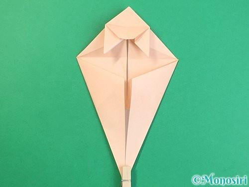 折り紙で立体的な猫の折り方手順47