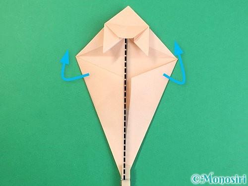 折り紙で立体的な猫の折り方手順48