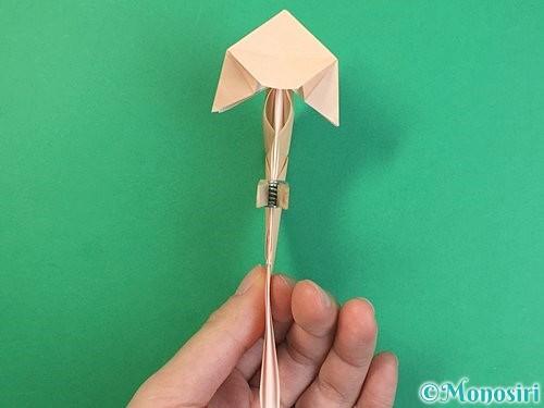 折り紙で立体的な猫の折り方手順51