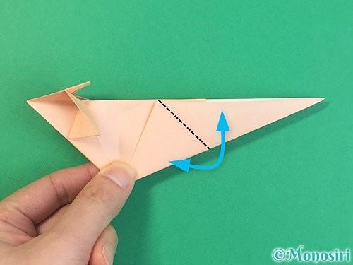 折り紙で立体的な猫の折り方手順53