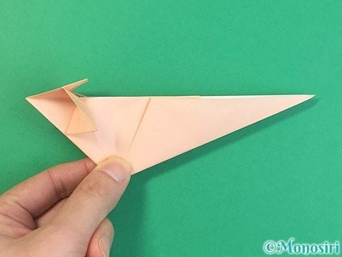 折り紙で立体的な猫の折り方手順52