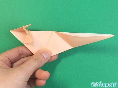 折り紙で立体的な猫の折り方手順54