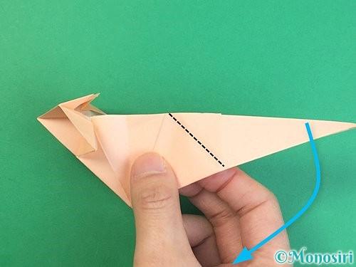 折り紙で立体的な猫の折り方手順55